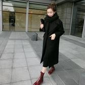 外套 呢子韓版黑色加厚chic呢子大衣女赫本風繭型中長款過膝羊毛呢外套秋冬