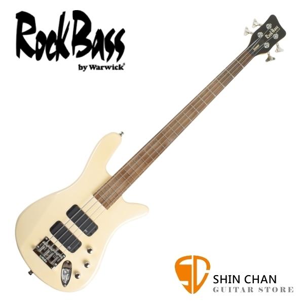 Rockbass Streamer Warwick 副廠 四弦電貝斯 米白色【Warwick電貝斯】