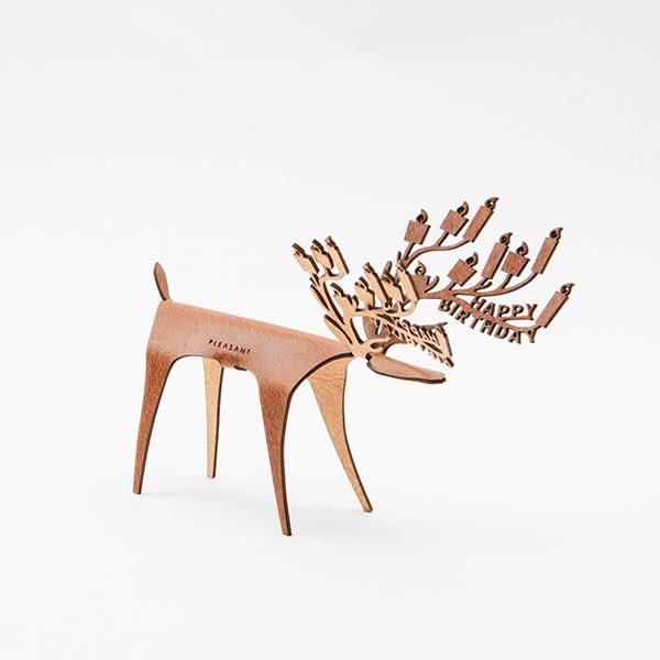 立格扉 x PLEASANT 生日快鹿禮卡 賀卡 Deer Card Birthday–Tan【立格扉Ligfe】