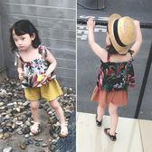童裝女寶寶吊帶背心夏季2018新款正韓兒童薄款上衣女童碎花娃娃衫 萬聖節
