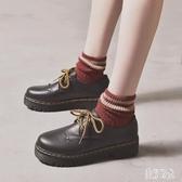 新款英倫學院風女式皮鞋 原宿學生韓版百搭軟妹小皮鞋女秋季單鞋 zh6017『美好時光』