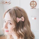 髮飾 韓國直送珍珠水鑽鑰匙愛心蝴蝶結髮夾-Ruby s 露比午茶