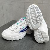 FILA DISRUPTOR II PREMIUM 女款白色厚底增高老爹鞋-NO.5C113T169