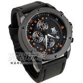 T5 sports time 真三眼大錶徑流行男錶 學生錶 防水手錶 日期 皮革 IP黑電鍍 H3516黑