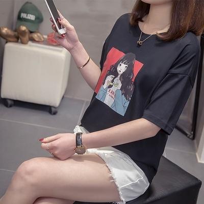 圓領上衣中大尺碼夏季新款大碼短袖韓版動漫ins時尚圖案潮流上衣T恤4F072 依品國際