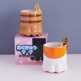 80vintagetime日本創意立體貓爪杯咖啡杯禮盒裝陶瓷貓爪肉球杯