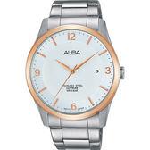 ALBA 雅柏 時尚東京石英手錶-銀x玫塊金框/40mm VJ42-X211KS(AS9C92X1)