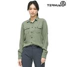 TERNUA 女 Natureshell長袖襯衫1481178 / 城市綠洲 (輕量、透氣、快乾、觸感柔軟)