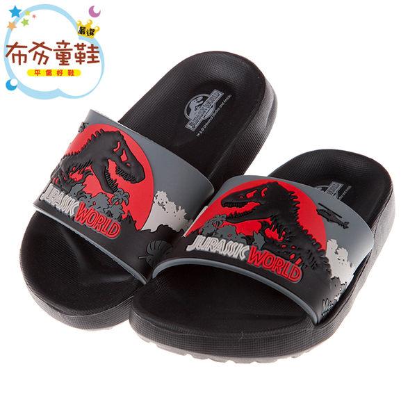 《布布童鞋》侏儸紀公園黑色暴龍兒童超輕量輕便拖鞋(15~20公分) [ M7X796D ]