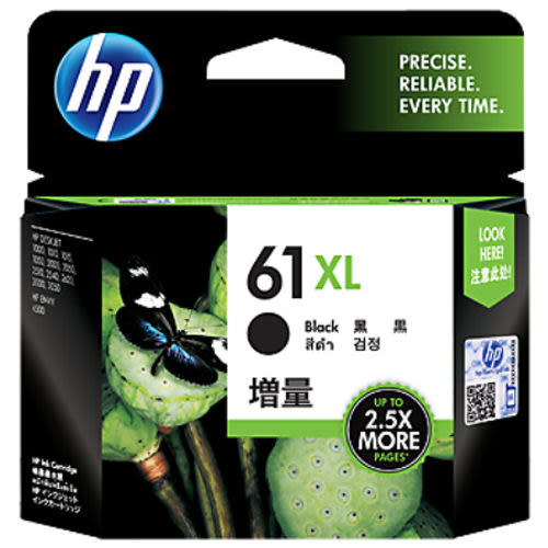 [奇奇文具]【HP】CH563WA NO. 61XL 原廠黑色大容量墨水匣