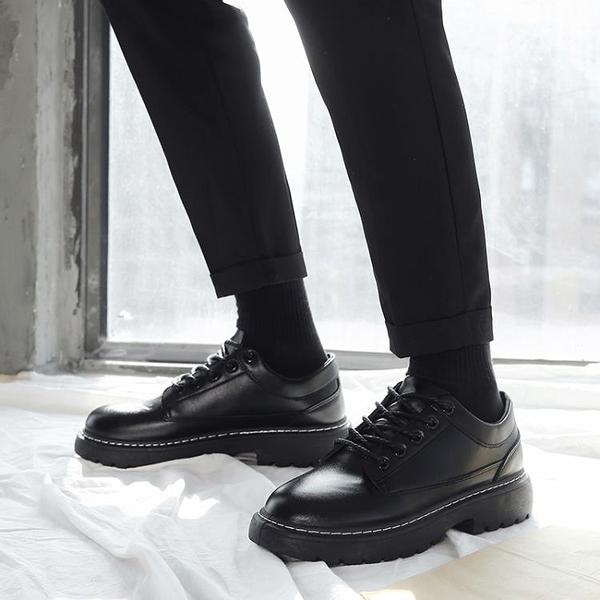 黑色皮鞋男韓版潮流百搭新