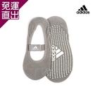 Adidas 防滑吸汗瑜珈襪-灰(20-23cm) x1【免運直出】