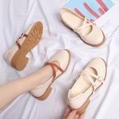 日系娃娃鞋瑪麗珍鞋平底圓頭小皮鞋森女復古淺口女鞋春秋新款單鞋