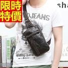 單肩包胸包真皮肩背包大氣個性-復古潮流多功能設計66a8【巴黎精品】