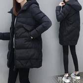 現貨-羽絨服 棉服女中長款新款加厚韓版冬季大碼寬鬆連帽棉衣外套棉襖 阿薩布魯 1-2