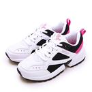 LIKA夢 ARNOR 輕量時尚復古厚底運動鞋 BE YOU系列 白黑粉 92089 女