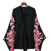 連身短褲-復古花朵印花設計棉質長袖女連身褲73ht16【時尚巴黎】