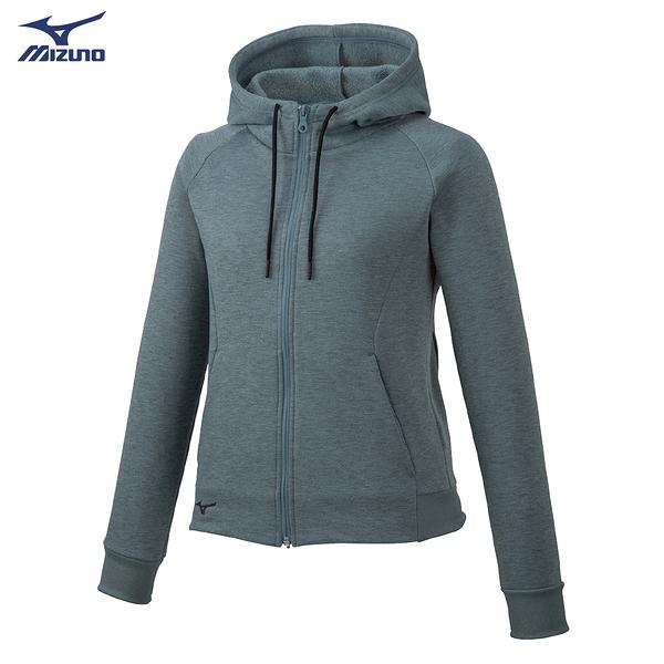 MIZUNO 女裝 外套 套裝 連帽 針織 口袋 內刷毛 保暖 灰【運動世界】32MC985706