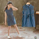 女童洋裝牛仔夏裝2018新款韓版童裝中大童時髦洋氣兒童公主裙子 魔方數碼館