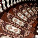 歐式樓梯踏步墊可水洗實木防滑地墊自粘墊子地中海藍色樓梯墊腳墊25*75