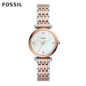 Fossil CARLIE MINI 雙色迷你奢華不鏽鋼鍊錶 女 ES4431