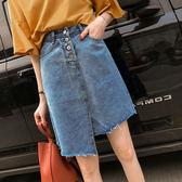 大碼半身裙女胖mm牛仔裙200斤不規則減齡顯瘦A型胖妹妹夏季裙子優樂居生活館