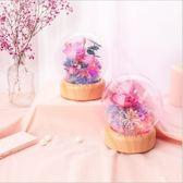 【Love Shop】天蝸 花語傳情音樂球流光瓶 夜燈送情侶永生花禮物藍牙音箱/藍牙喇叭