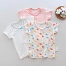兒童竹節棉上衣 3件裝夏季女童純棉短袖T恤寶寶兒童竹節棉透氣薄款打底半袖上衣-Ballet朵朵