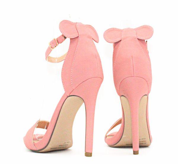 GLAZE 獨家限量一字繫帶後蝴蝶結金屬釦帶繫踝高跟涼鞋-3色『粉色下標區』