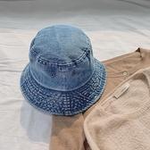 牛仔漁夫帽女百搭休閒日系韓版遮陽防曬夏季【聚寶屋】