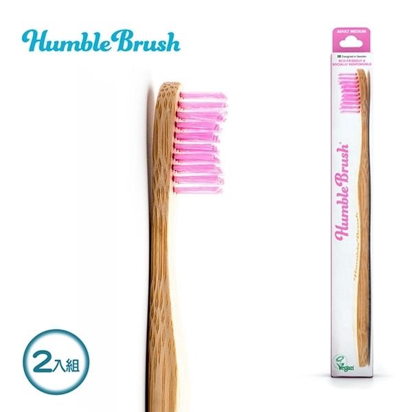 【Babytiger虎兒寶 】瑞典Humble Brush 成人牙刷超軟毛 2入組-紫色