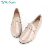 Bo Derek 復古百搭樂福鞋-漆光杏