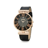 【Folli Follie】DYNASTY奢華晶鑽羅馬時尚腕錶-精黑款/WF1B029SSK_BK/台灣總代理公司貨享兩年保固