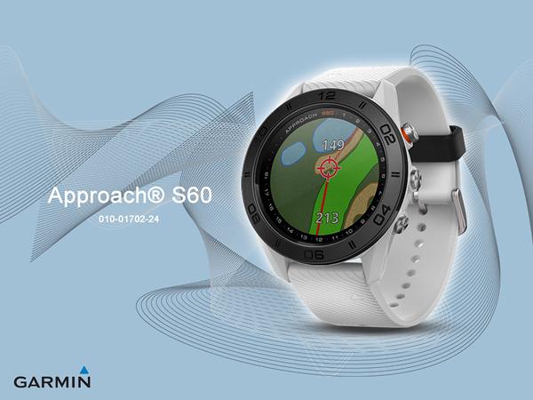 【時間道】GARMIN -預購- Approach® S60 高爾夫GPS觸控式智能腕錶 - 爵士白 (免運費)