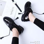 港味學生百搭單鞋2019新款春季chic女鞋復古平底鞋流蘇小皮鞋子潮  【PINK Q】