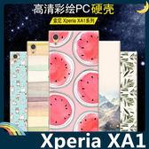 SONY Xperia XA1 G3125 彩繪磨砂手機殼 PC硬殼 卡通塗鴉 超薄防指紋 保護套 手機套 背殼 外殼