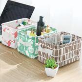 棉麻桌面雜收納盒 收納籃 韓系療癒 繽紛多色