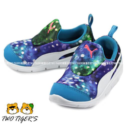 Puma Bao 藍色 渲染 舒適彈性鞋面 套入式運動鞋 中童鞋 NO.R1181