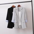 西裝外套 2021新款大碼女裝胖MM200斤寬松小西裝外套休閑防曬衣時尚小西服 霓裳細軟