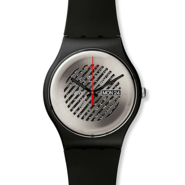 Swatch  時尚斜紋透視時光石英腕錶   SUOB713