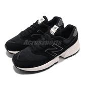 New Balance 慢跑鞋 NB 574 黑 白 女鞋 運動鞋 麂皮 復古 休閒鞋【PUMP306】 WS574ATHB