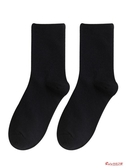 棉襪 白色長襪子女中筒襪ins潮流街頭百搭棉高幫秋冬純黑色長筒襪男 2色