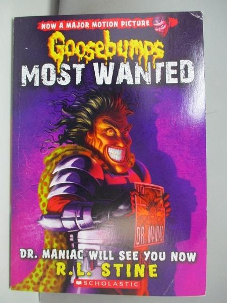 【書寶二手書T4/原文小說_AOW】Dr. Maniac Will See You Now_Stine, R. L.