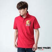 BIG TRAIN 炙焰之虎POLO衫-男-紅
