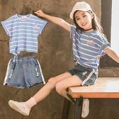兩件套 女童夏裝套裝兒童裝洋氣韓版短褲兩件套夏季中大童時髦潮【全館九折】