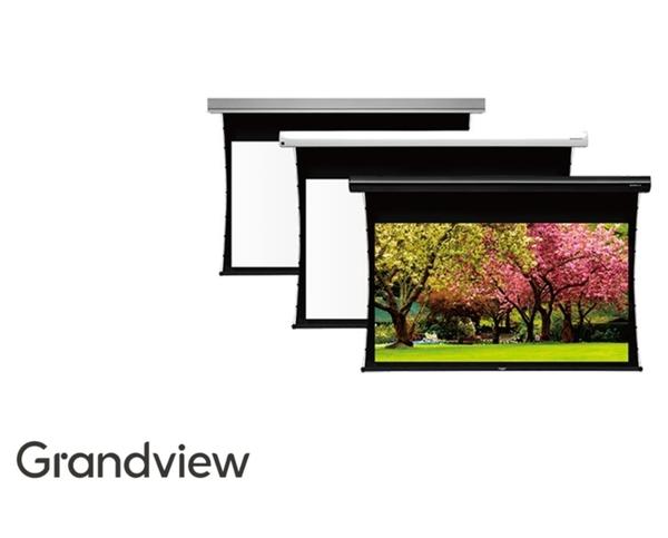 《桃園.新竹投影機布幕專賣》加拿大 GRANDVIEW LF-MI92(16:9)UHD130 92吋 16:9 智能電動拉線銀幕