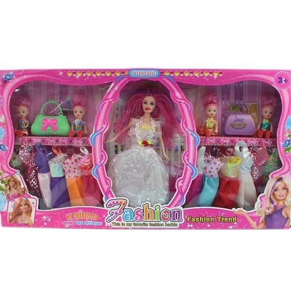 芭比娃娃 + 12件衣服 附加配件 588C/一盒入{促350}11.5吋洋洋娃-CF130053