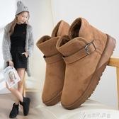 冬季韓版雪地靴保暖棉鞋學生百搭短筒兔毛短靴加絨女鞋 奇思妙想屋