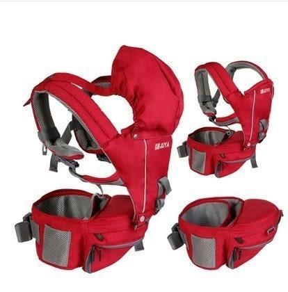食尚玩家 菊雅嬰兒背帶腰凳抱凳寶寶抱嬰腰凳多功能嬰兒腰凳背帶夏季腰登(紅色)