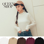 Queen Shop【01096463】小立領內刷毛百搭上衣 五色售*現+預*